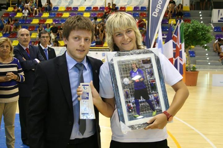 Best Goalkeeper: Kapustina Olga - MAMI (RUS)