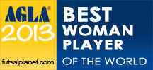 AGLA Futsal, Awards 2013, Best Woman Futsal Player, женский футзал, Ваннеса, Лучшая футзалистка, 2013, futsalplanet