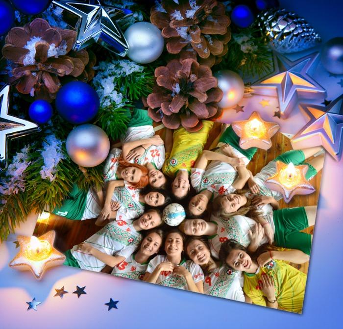 NewYear, wishes, НОвий Рік, Біличанка, клуб, команда, привітання, Новый год, Різдво, колектив, Беличанка, футзал, свято, открытка