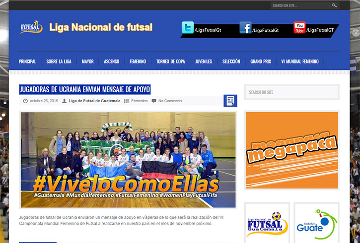 ViveloComoEllas, VIMundialFemeninodeFutsalaGuatemala2015, mundial, WomansPlayFutsalFifa, futsalfemenino, жіночий футзал