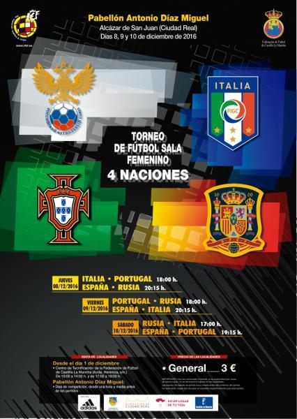 4 naciones de fútbol sala femenino