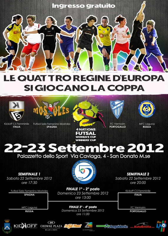 WINNERS CUP, FSF Mostoles, Kickoff C5 Femminile, MFC Laguna-Uor Penza, FC Vermoim, женский футзал, Women's Cup