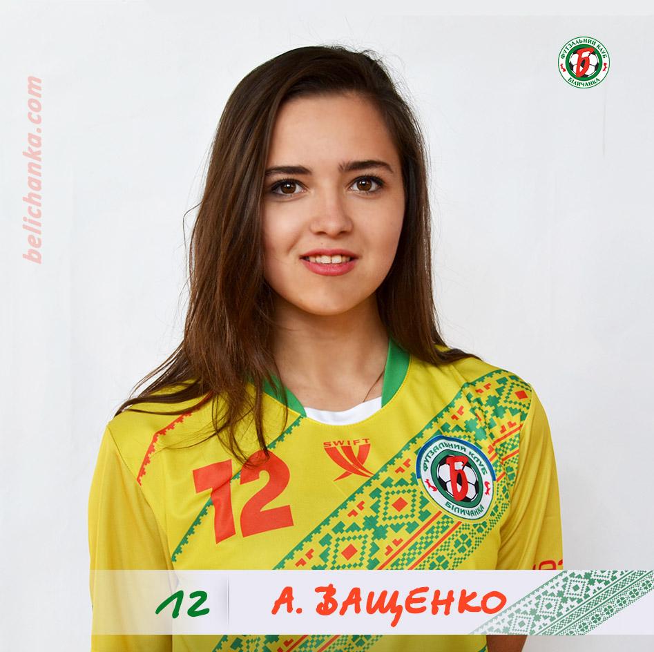 Ващенко Анастасія, Біличанка, Беличанка, футзал