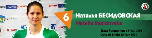 Наталья Бесидовская, Беличанка НПУ, Беличанка 93
